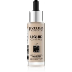 Eveline Liquid Control HD – make up s kapatkem 010 LIGHT BEIGE