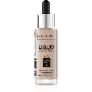 Eveline Liquid Control HD – make up s kapatkem 020 ROSE BEIGE