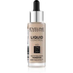 Eveline Liquid Control HD – make up s kapatkem 030 SAND BEIGE